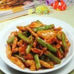 梅豆炒鸡胸肉