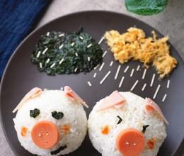 肉松小猪饭团
