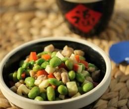 毛豆茭白炒肉丁#美的智能冰箱#