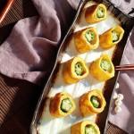 秋葵鸡蛋卷