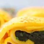 菠菜厚蛋燒