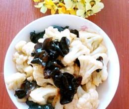 木耳炒花菜