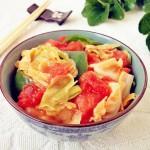 西红柿炒圆白菜