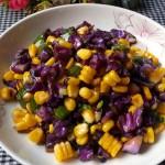 紫甘蓝炒玉米