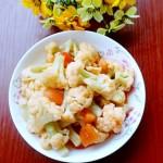 西红柿炒花菜
