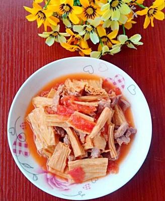 西红柿炒腐竹
