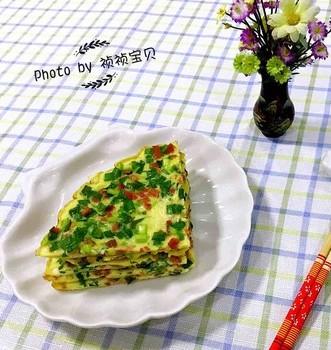 韭菜香肠鸡蛋饼