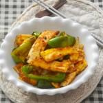青椒炝炒荷包蛋