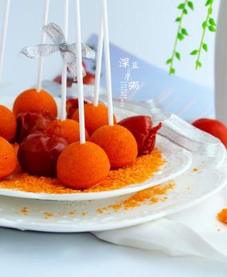 西红柿棒棒糖蛋糕