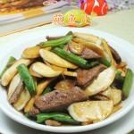 梅豆茭白炒猪肝