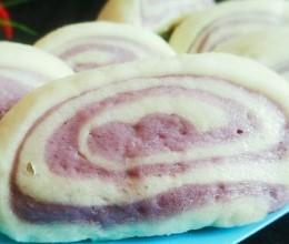 双色紫薯馒头