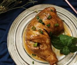柠香葱油焗鸡腿