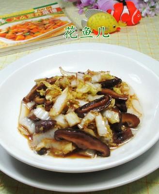 香菇炒娃娃菜