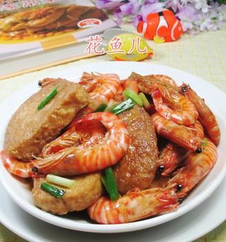 基围虾烧鲜素鸡