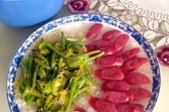 广式腊肠黄花饭