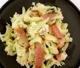 腊肉炒有机菜花