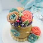 豆沙裱花小蛋糕