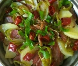 清蒸腊肉土豆片