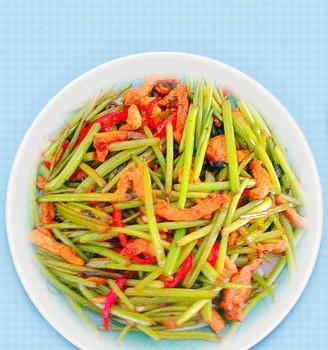 红薯梗炒肉丝