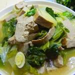小白菜烧黑豆腐