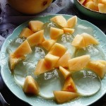 甜瓜蜂蜜冰粉