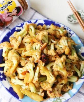 烧烤香菇酱花菜
