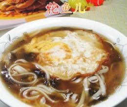 鸡蛋海带汤面