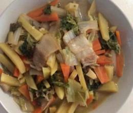 大白菜炖土豆