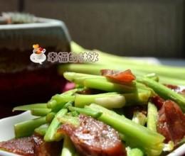 水芹菜炒腊肠