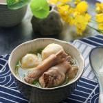 山茶油蟹籽丸鸡汤