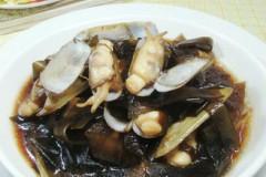海带炒蛏子