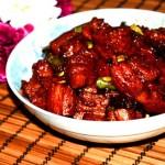 红烧肉焖豆角