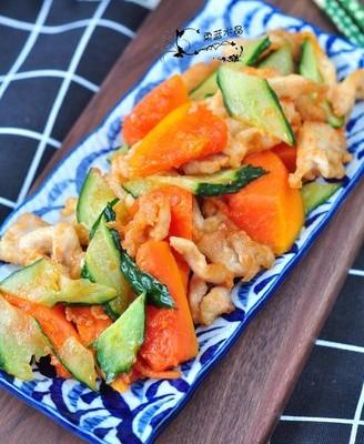 木瓜熘鸡片
