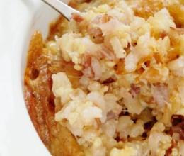 芝士焗腊味杂谷海鲜饭