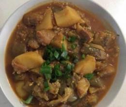 咖喱炖茄子土豆