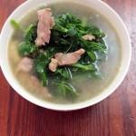 豌豆尖肉片汤