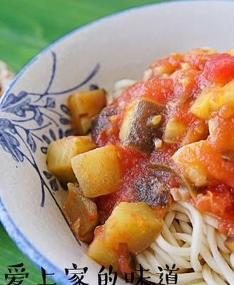 西红柿茄丁打卤面