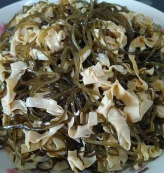 海带丝炒干豆腐