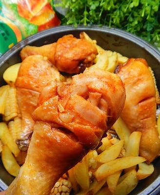 玉米烤鸡腿