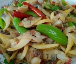 杭椒炒蚶子肉