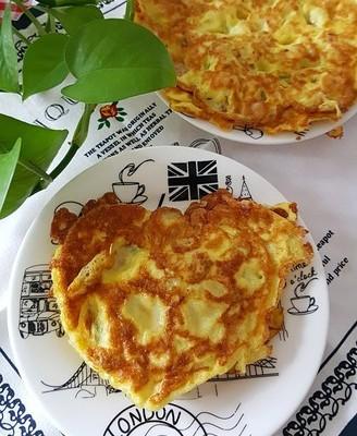 玉米粒鸡蛋饼
