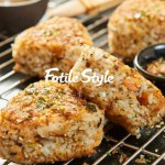 日式三文魚烤飯團
