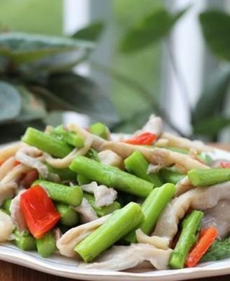 芦笋炒人工菌