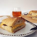 烤肉茄子三明治