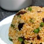 香菇酱豌豆炒饭