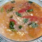 西红柿肉末疙瘩汤