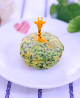 三文鱼菠菜鸡蛋饼  宝宝辅食食谱