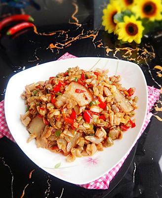 酸四季豆炒腊肉