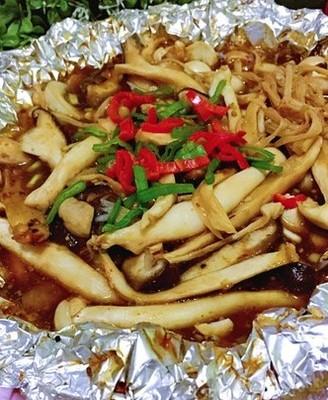 酱汁蒸烤菌菇