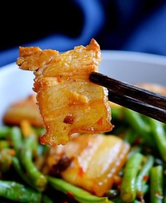 回鍋肉炒豇豆